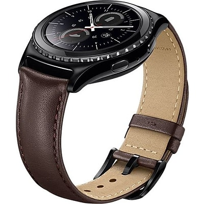 Samsung Gear S2 Classic Leather Smartwatch Band, Brown (ET-SLR73MAEBUS)