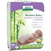 Aleva Naturals® Bamboo Baby® Diapers, Size NB to 1, 32 Count (37842)