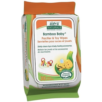 Aleva Naturals Bamboo Baby Pacifier & Toy Multipurpose Wipes, 180 Count (37988) IM13G8862