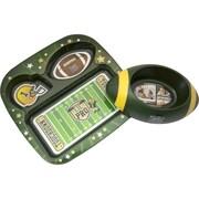 Remarkabowl™ Lil Pro Football Dish Set, Green/Yellow (1-30513)