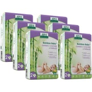 Aleva Naturals® Bamboo Baby® Diapers, Size 2, 180 Count (37847)