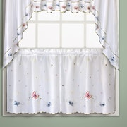 United Curtain Co. Butterfly Tier Curtain; 36'' H x 60'' W