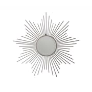 Cheungs Sunburst Silver Metal Wall Mirror