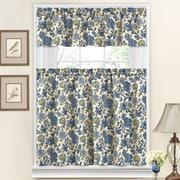 Traditions by Waverly Navarra Floral 52'' Valance and Tier Set; Porcelain
