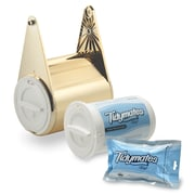 Tidymates® ALL-IN-ONE FLUSHABLE WIPES & TOILET PAPER SYSTEM Starter Set - Brass Plate (DC-B11)