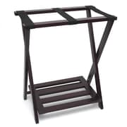 Lipper International Right Height Luggage Rack with Shoe Shelf; Espresso