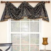 RLF Home Emily 2-Scoop Celebration Curtain Valance; Black