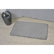 Evideco Non Skid Rectangular Bath Mat; Gray