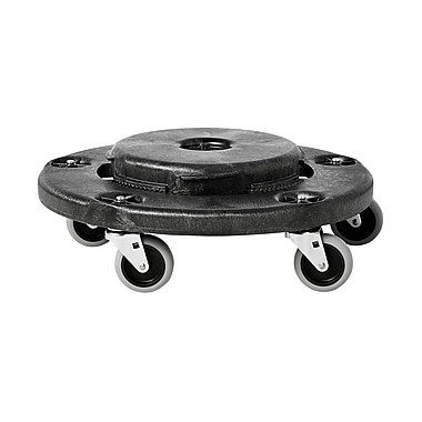 Rubbermaid® Round Twist On/Off Dolly, Black