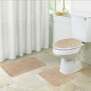 Kashi Home Layla 3 Piece Bath Rug Set; Gold