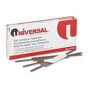 Universal Products Self-Adhesive Paper And File Fasteners, 1'' Capacity, 100 per Box