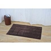 Evideco Prestige Rectangular Soft Bath Rug; Brown
