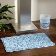 Evideco Soft Shaggy Loop Bath Rug; Light Blue