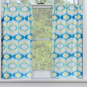 Contempo Curtains Hourglass Seaglass Tier Curtain (Set of 2); 24'' H x 48'' W