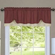 Achim Importing Co Darcy Curtain Valance; Marsala/Tan