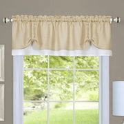 Achim Importing Co Darcy Curtain Valance; Tan/White