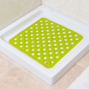 Evideco Non Skid Square Bath Mat; Green