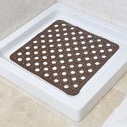 Evideco Non Skid Square Bath Mat; Brown