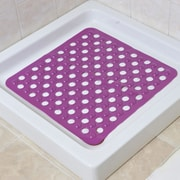 Evideco Non Skid Square Bath Mat; Purple