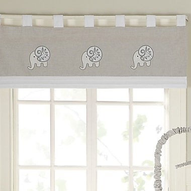 Laugh, Giggle & Smile Elephant Chic 44'' Window Curtain Valance