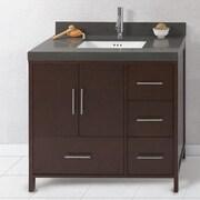 Ronbow Juno 36'' Bathroom Vanity Cabinet Base in Dark Cherry - Doors on Left