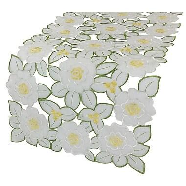 Xia Home Fashions Dainty Flowers Table Runner; 0.1'' H x 54'' W x 15'' L