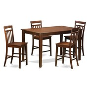 East West Dudley 5 Piece Counter Height Pub Table Set