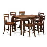 East West Dudley 7 Piece Counter Height Pub Table Set