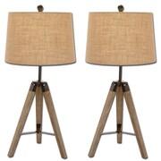 Urban Designs Weathered Tripod 31'' H Table Lamp (Set of 2)