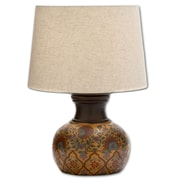 Urban Designs Adele Hand Painted Terra Cotta 20'' H Table Lamp