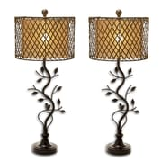 Urban Designs Leaves Lattice 35'' H Table Lamp (Set of 2)