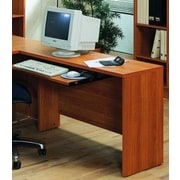 Wildon Home   600 Series 29.5'' H x 47.25'' W Reversible Desk Return; Light Cherry
