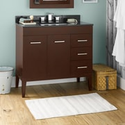Ronbow Venus 36'' Bathroom Vanity Base Cabinet in Dark Cherry  - Doors on Left, Wood Legs