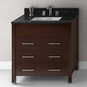Ronbow Kali 31'' Bathroom Vanity Base Cabinet in Dark Cherry