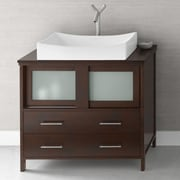 Ronbow Minerva 36'' Bathroom Vanity Base Cabinet in Dark Cherry