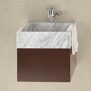 Ronbow Rebecca 18'' Wall Mount Bathroom Vanity Base Cabinet in Dark Cherry