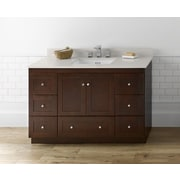 Ronbow Shaker 48'' Bathroom Vanity Cabinet Base in Dark Cherry - Wood Doors