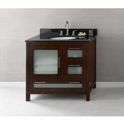 Ronbow Athena 36'' Bathroom Vanity Base Cabinet in Dark Cherry - Door on Left