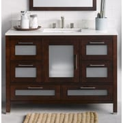 Ronbow Athena 48'' Bathroom Vanity Base Cabinet in Dark Cherry