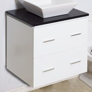 American Imaginations 23'' Modern Vanity Base; Brushed Nickel