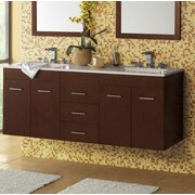 Ronbow Bella 23'' Wall Mount Bathroom Vanity Base Cabinet in Dark Cherry