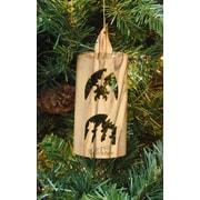 EarthwoodLLC Olive Wood Candle Ornament w/ 2 Scenes