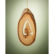 EarthwoodLLC Olive Wood Ornament w/ Christmas Tree