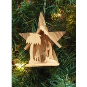 EarthwoodLLC Olive Wood Large Star Grotto Ornament