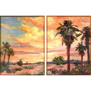 Empire Art Direct ''Desert Oasis'' 2 Piece Painting Print Set on Canvas