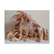 EarthwoodLLC Olive Wood Traditional Nativity Figurine Set