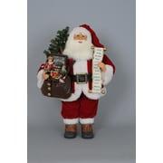Karen Didion Christmas Lighted Vintage Gift Bag Santa Figurine