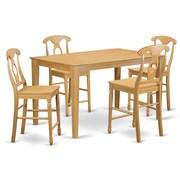 East West Capri 5 Piece Counter Height Pub Table Set