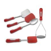 Suzie Q Retro 5 Piece Kitchen Tool Set; Apple Red