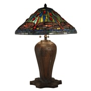 Dale Tiffany Cardinal Dragonfly 26'' H.5'' H Table Lamp w/ Empire Shade